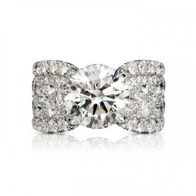 Round Cut Created Diamond Ring
