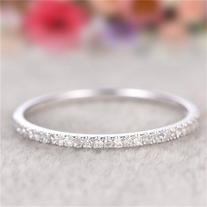 Round Cut Created Diamond Eternity Ring