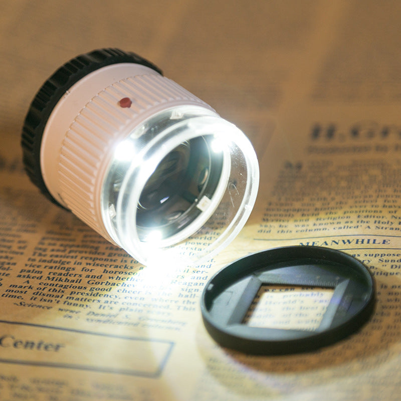 Magnifying Glass Money Detector Lamp Led  30 Times Handheld Cylindrical Magnifying Glass
