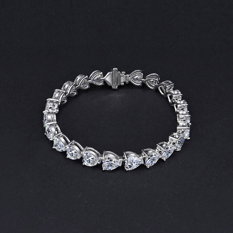 Dainty Sterling Sliver Lovely Heart Shaped Bracelets for Women