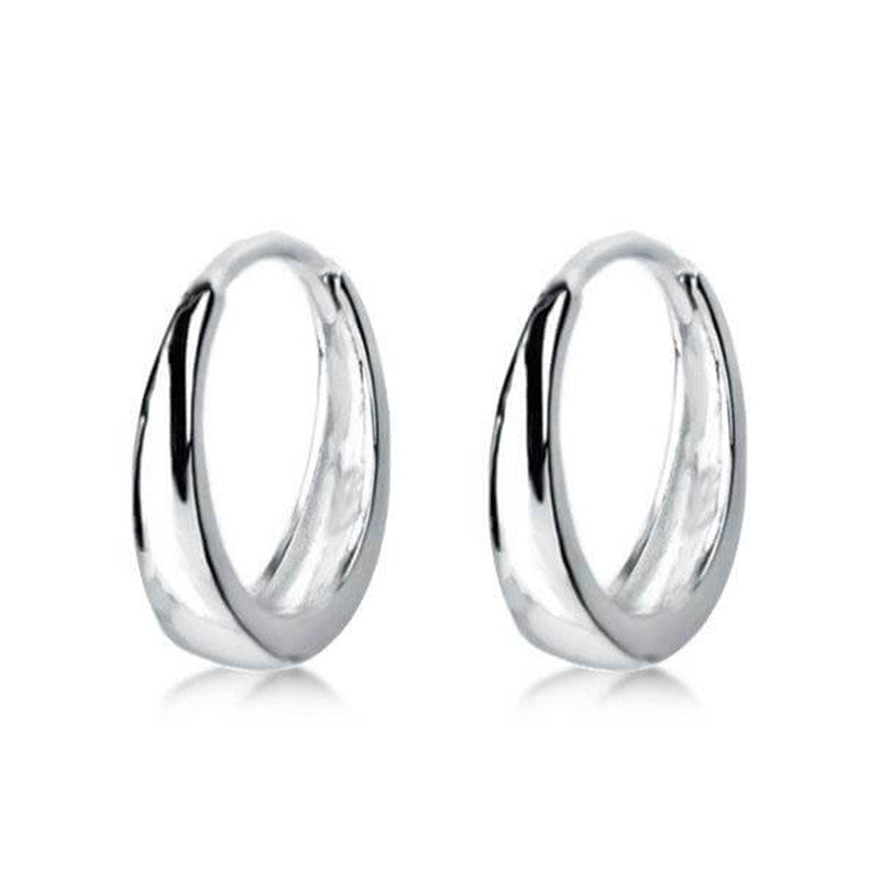 Simple Silver Hoop Earrings For Women And Men