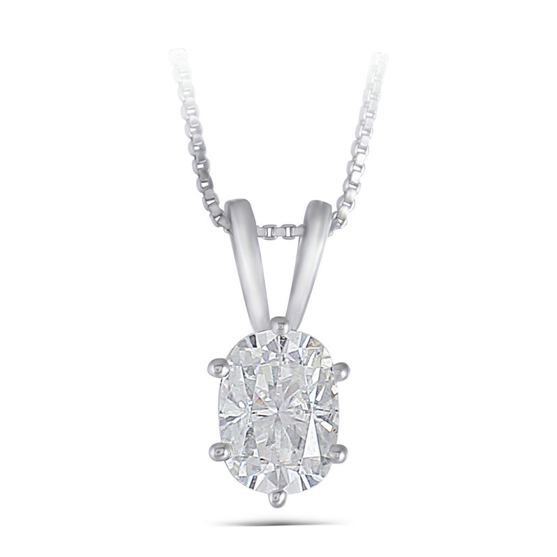 14K/18K Gold 1ct Cushion Cut Color Grade D Moissanite Diamond Solitaire Pendant Nacklace 18''