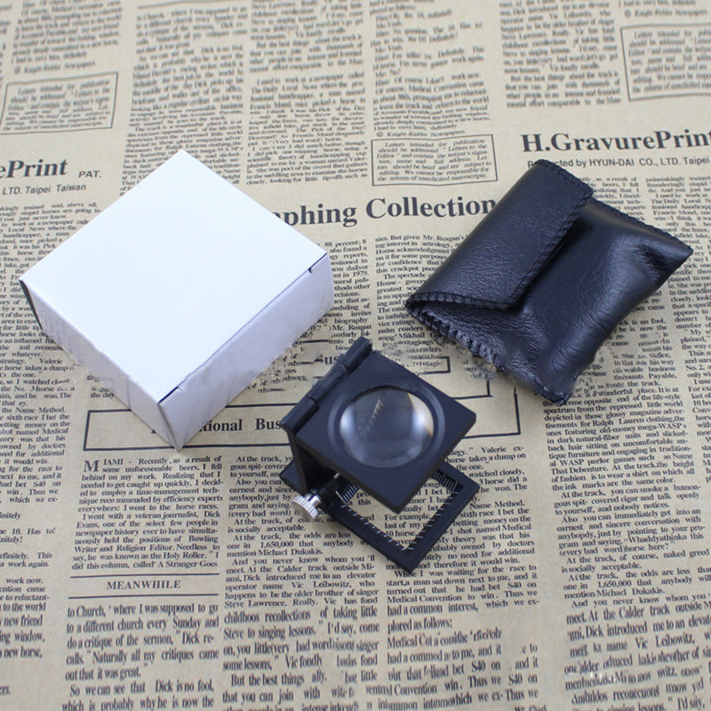 30mm Folding Measuring Cloth Inspection Magnifier
