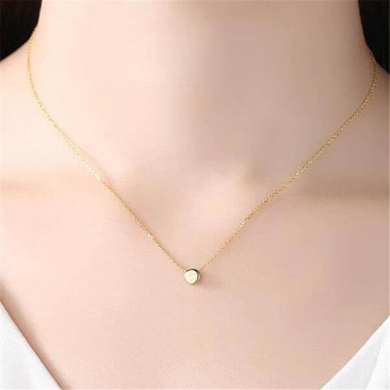 Round Beans Yellow Gold Necklace