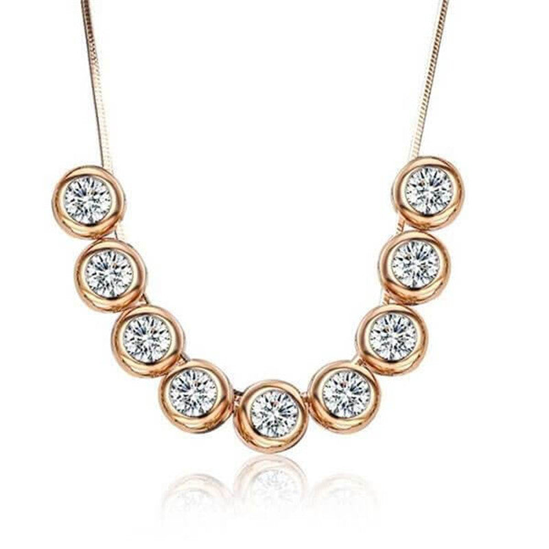 Bezel Design Created White Diamond Necklace