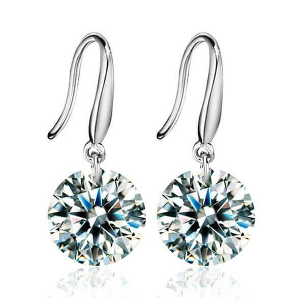 Classic Created White Diamond Drop Earrings