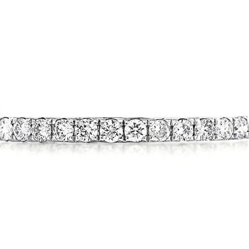 Round Cut Classic Created White Diamond Tennis Bracelet