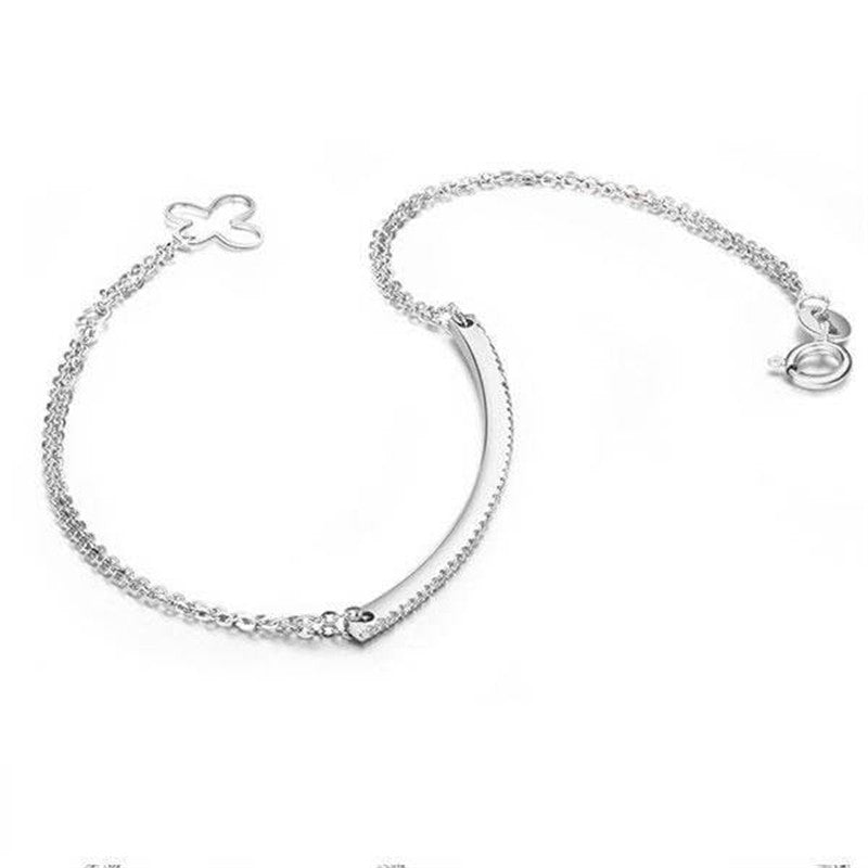 Classic Bar Created White Diamond Bracelet