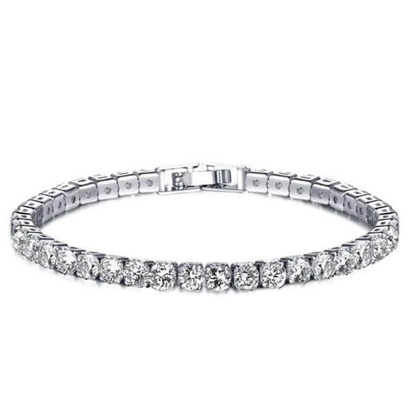 Round Created White Diamond Tennis Bracelet