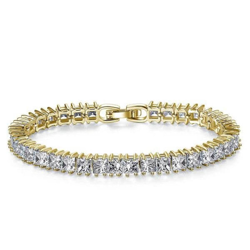 Golden Princess Created White Diamond Tennis Bracelet