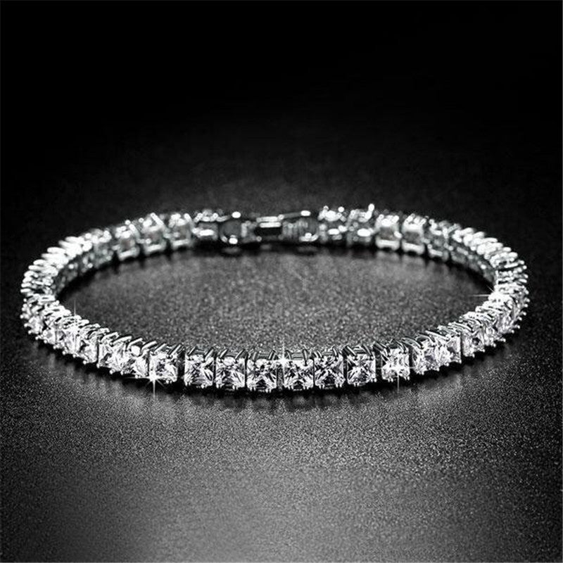 Princess Created White Diamond Tennis Bracelet