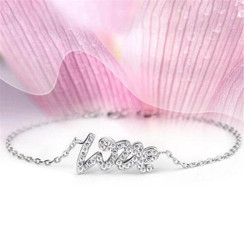 Love Design Created White Diamond Bracelet
