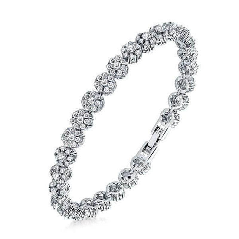 Classic Created White Diamond Rope Bracelet