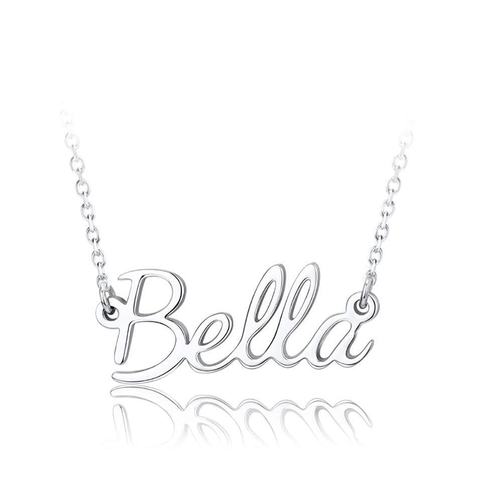 925 Sterling Silver Personalized Customized Name Necklace Gift for Women