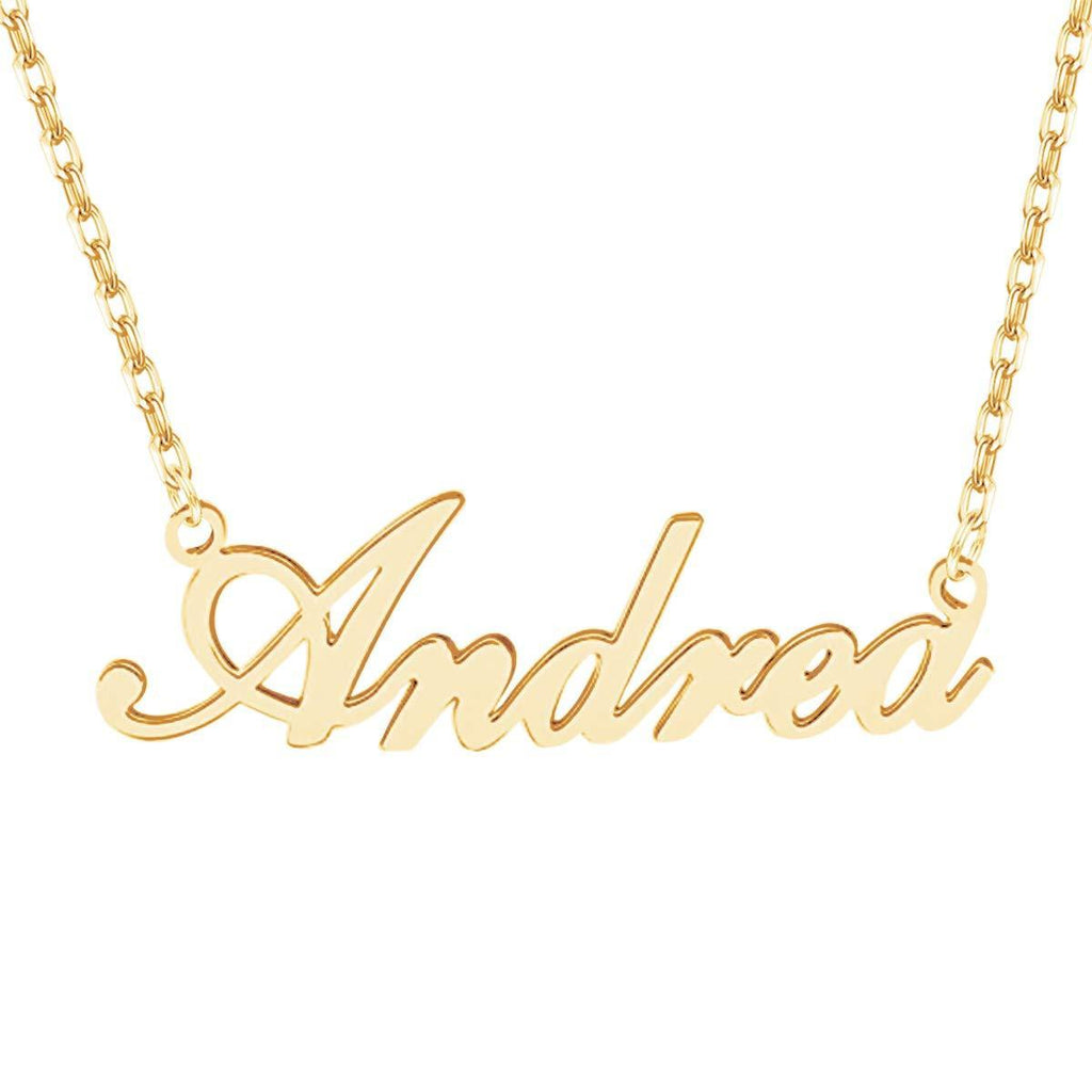 925 Sterling Silver Custom Name Necklace 18K Gold Plated for Women