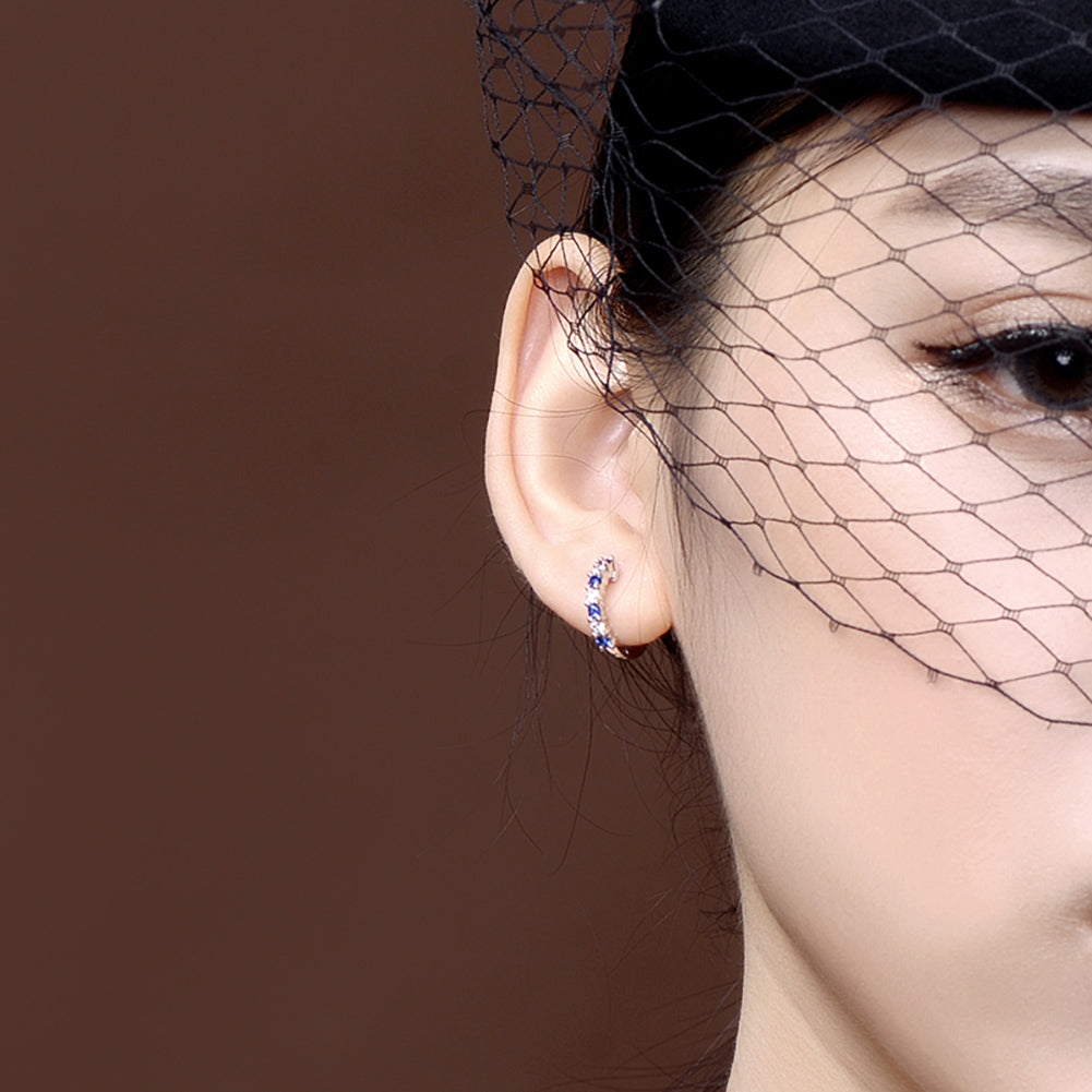 Round Fashion Hoop Earrings