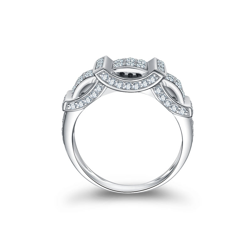 Unique Half Eternity Created White Diamond ring
