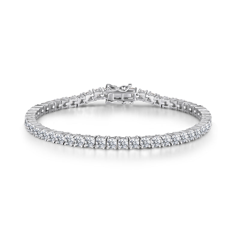 3mm Round Brilliant Created Diamond Tennis Bracelet