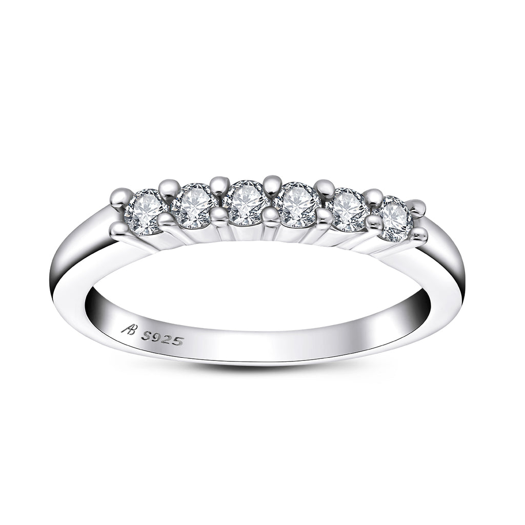 Round Created White Diamond Ring