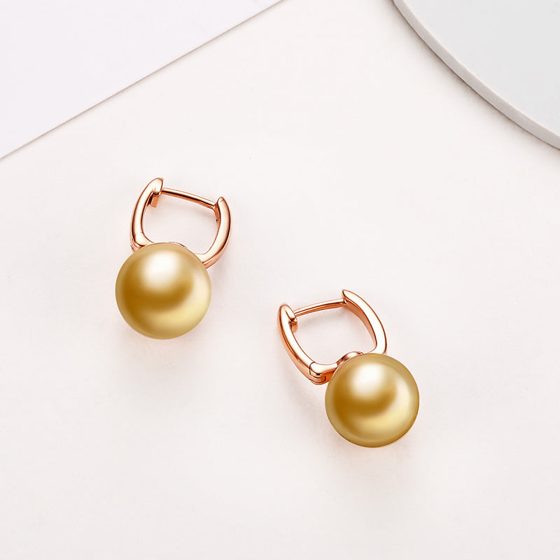 18K Rose Gold Southsea Gold Pearl Earring