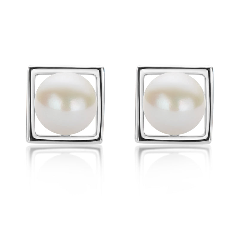 925 Sterling Silver Pearl Stud Earrings