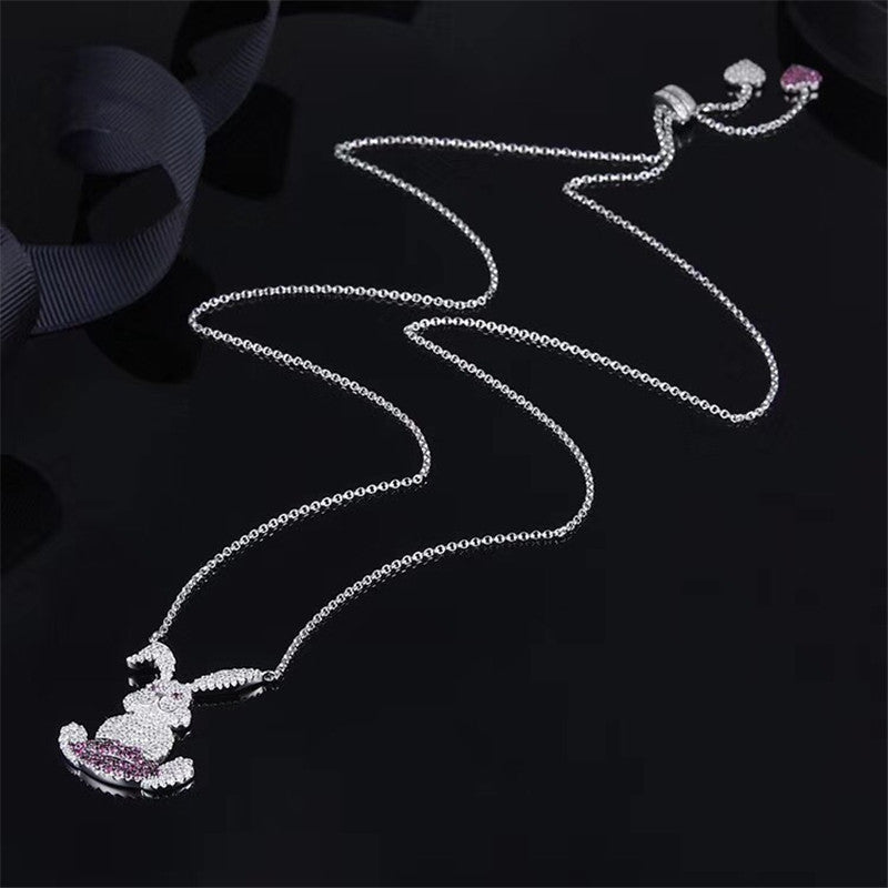 Sterling Silver Bunny Pendant Necklace