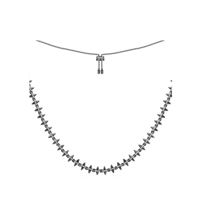 Gothic Sterling Silver Rivet Necklace