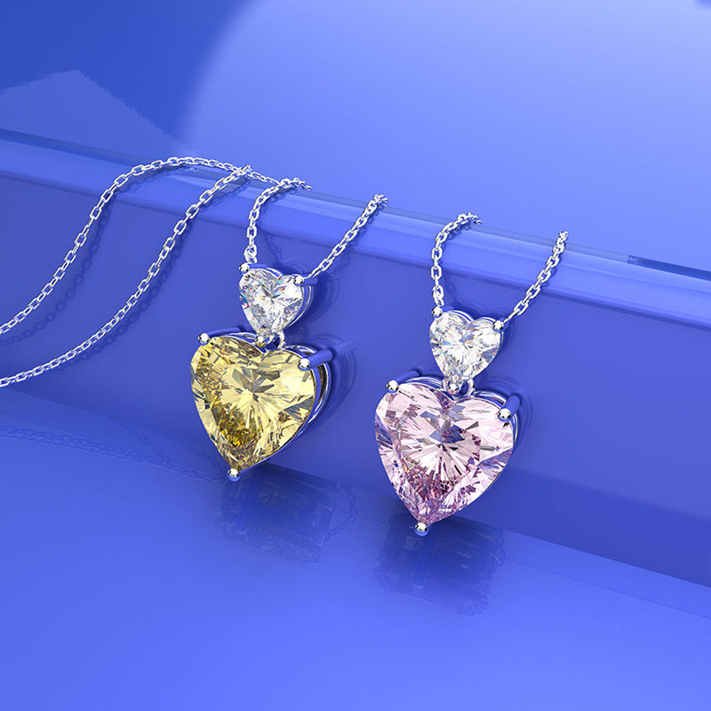 Heart Created Diamond Pendant Necklace