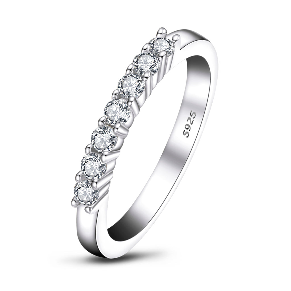 Half Eternity Round Created White Diamond Ring