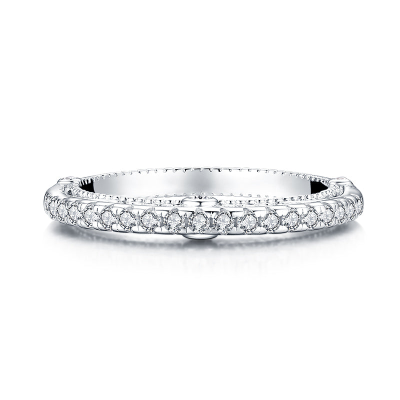 Created white diamond eternity ring