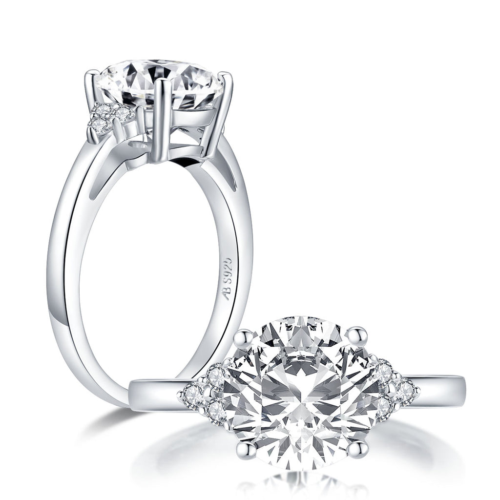 Round Cut White Created Diamond Ring