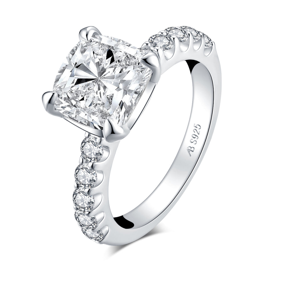 3 CT Cushion Cut Created Diamond Ring