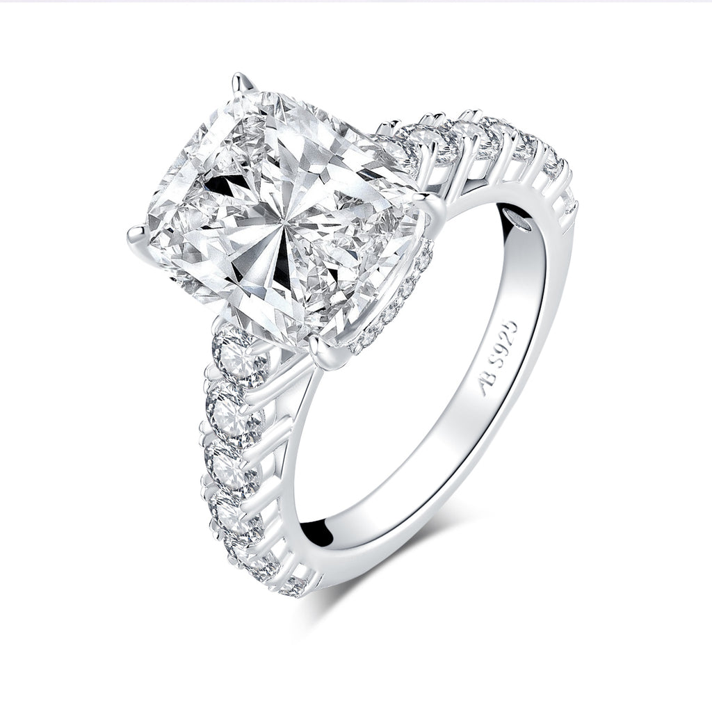 Luxury 5ct Cushion Created Diamond Ring