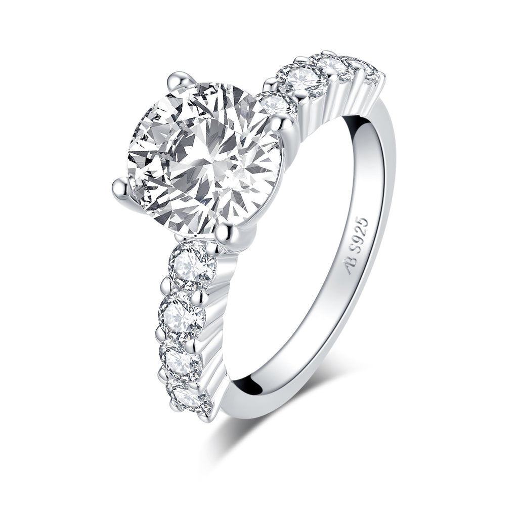 Classic 2.65CT Round Created White Diamond Ring