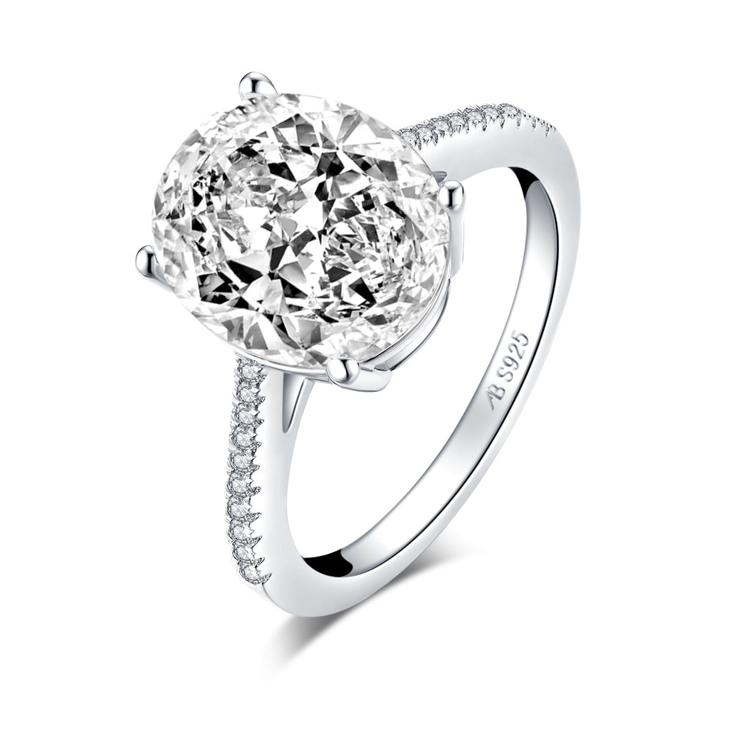 Luxury 5 CT Oval Created White Diamond Ring
