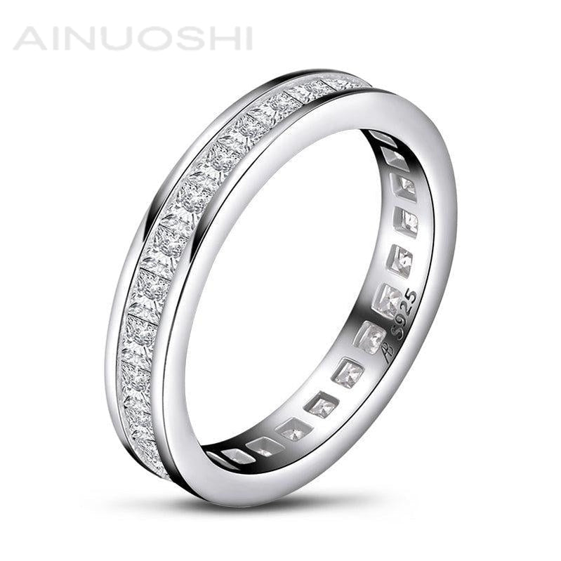 Princess Cut Created Diamond Full Eternity Ring