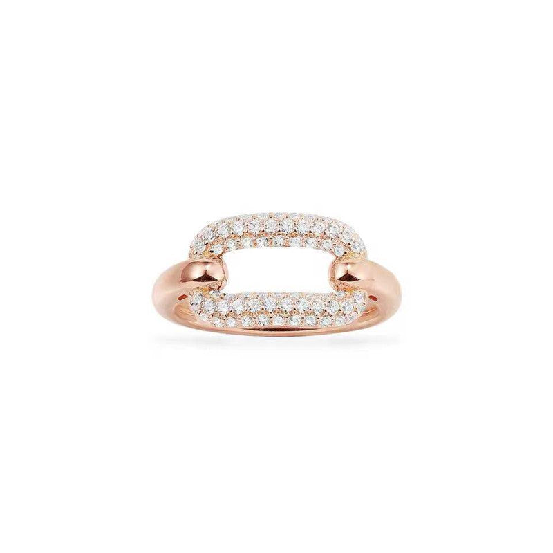 Yellow Gold Plated Created Diamond Ring