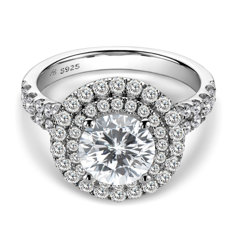 Halo Round Cut Created Diamond Ring