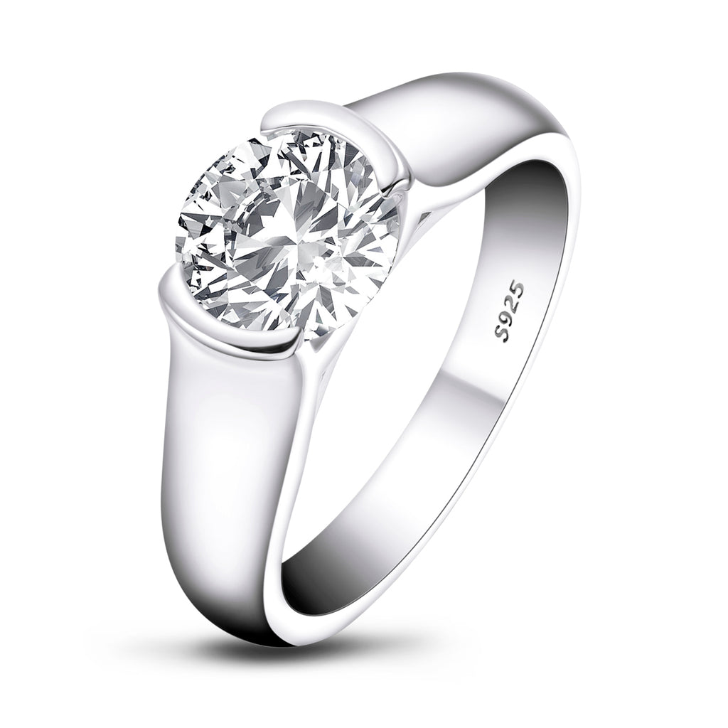 Classic Round Created White Diamond Ring