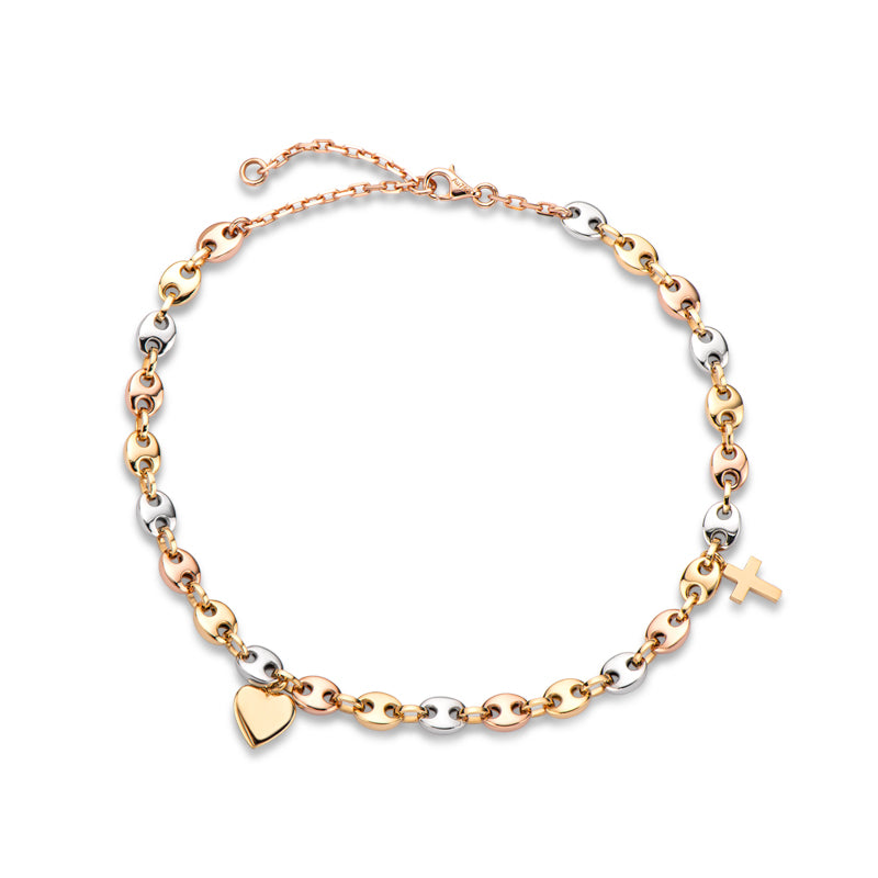 18K Gold Multi-Color Women Anklet
