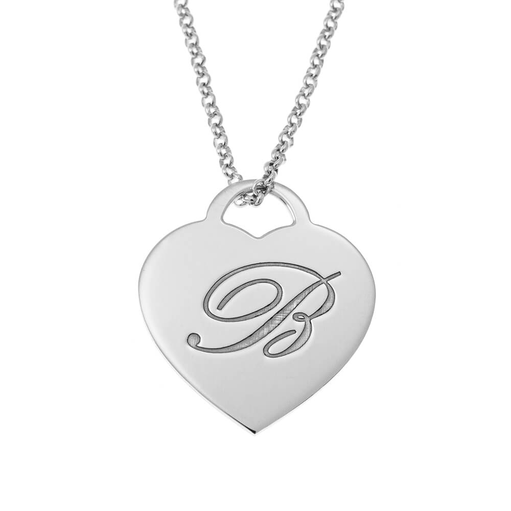 Big Initial Heart Necklace