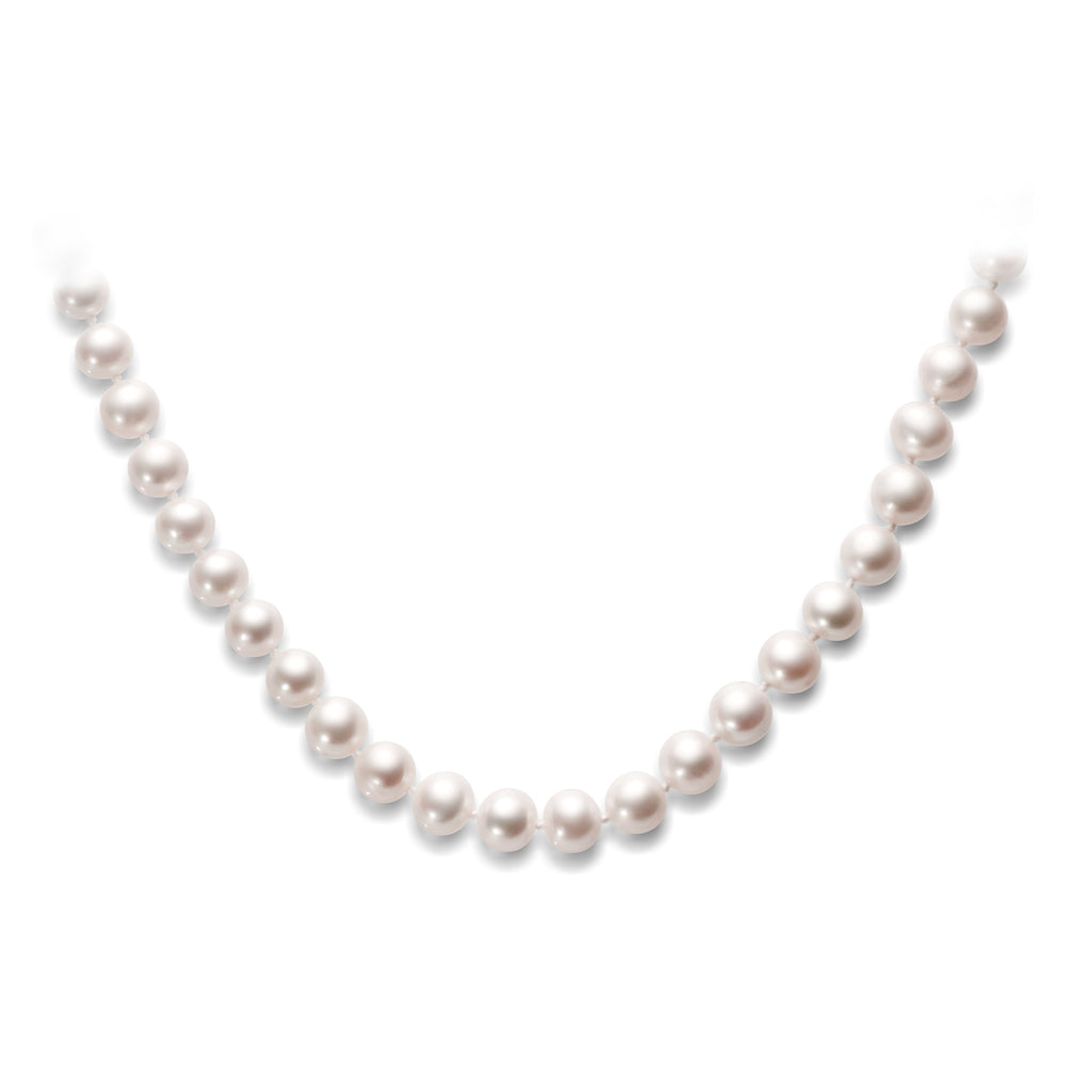 Mother's 925 Silver Bucket Freshwater Pearl Necklace