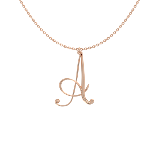 Big Initial Letter Necklace A-Z