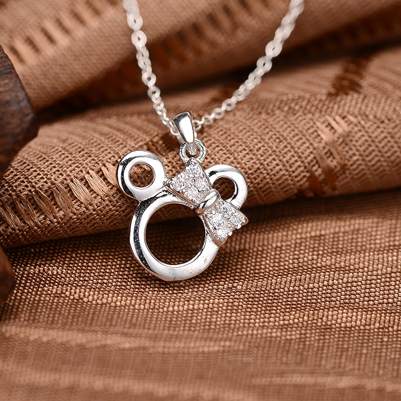 Minnie Created White Diamond Pendant Necklace
