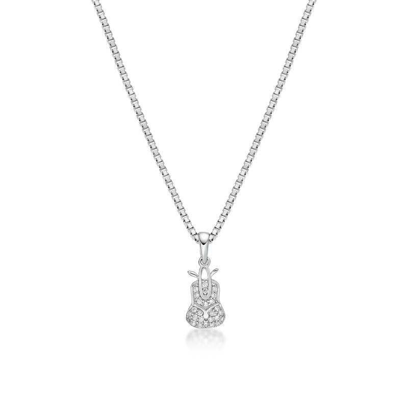 Sapling Created White Diamond Pendant Necklace