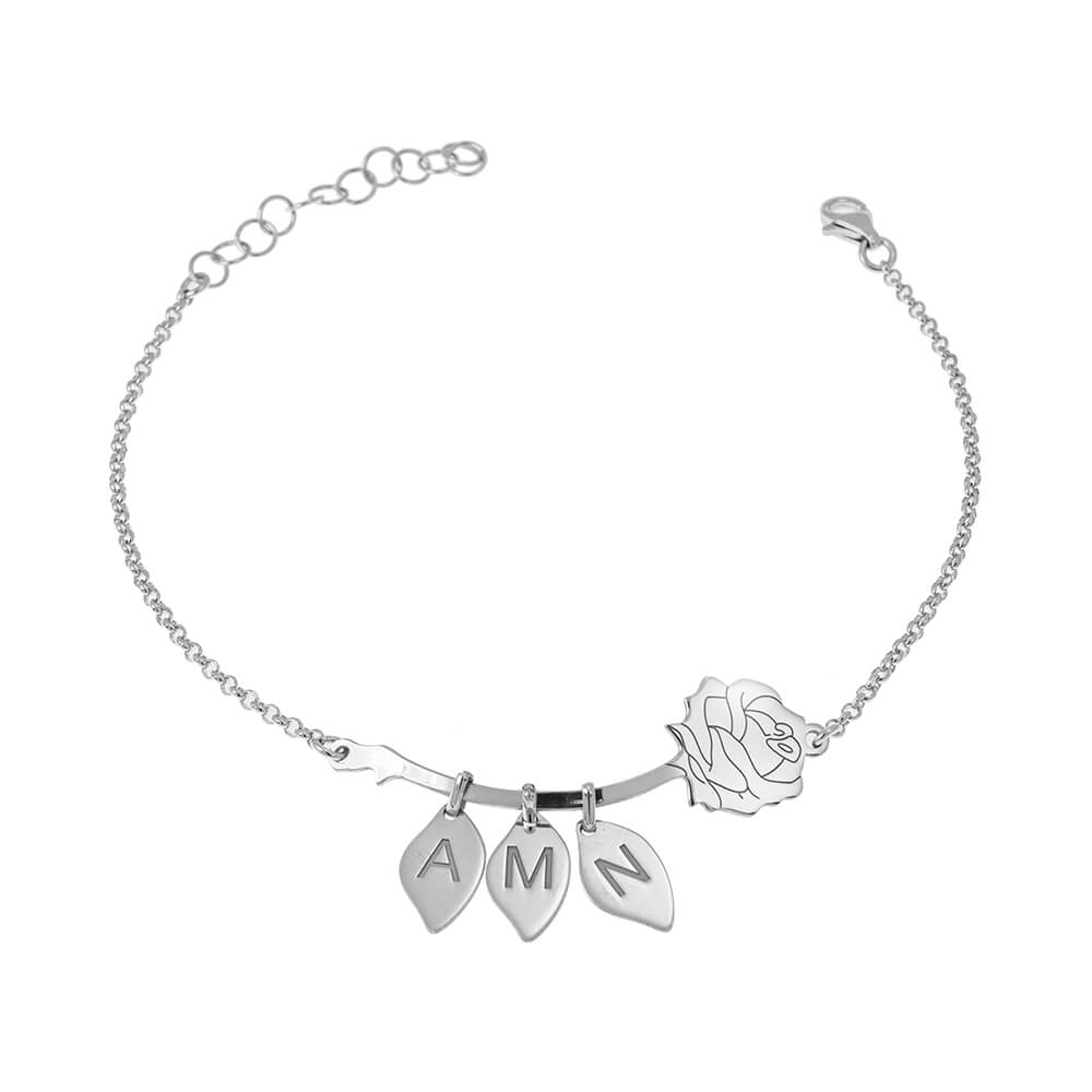 Rose Bracelet With Leaves