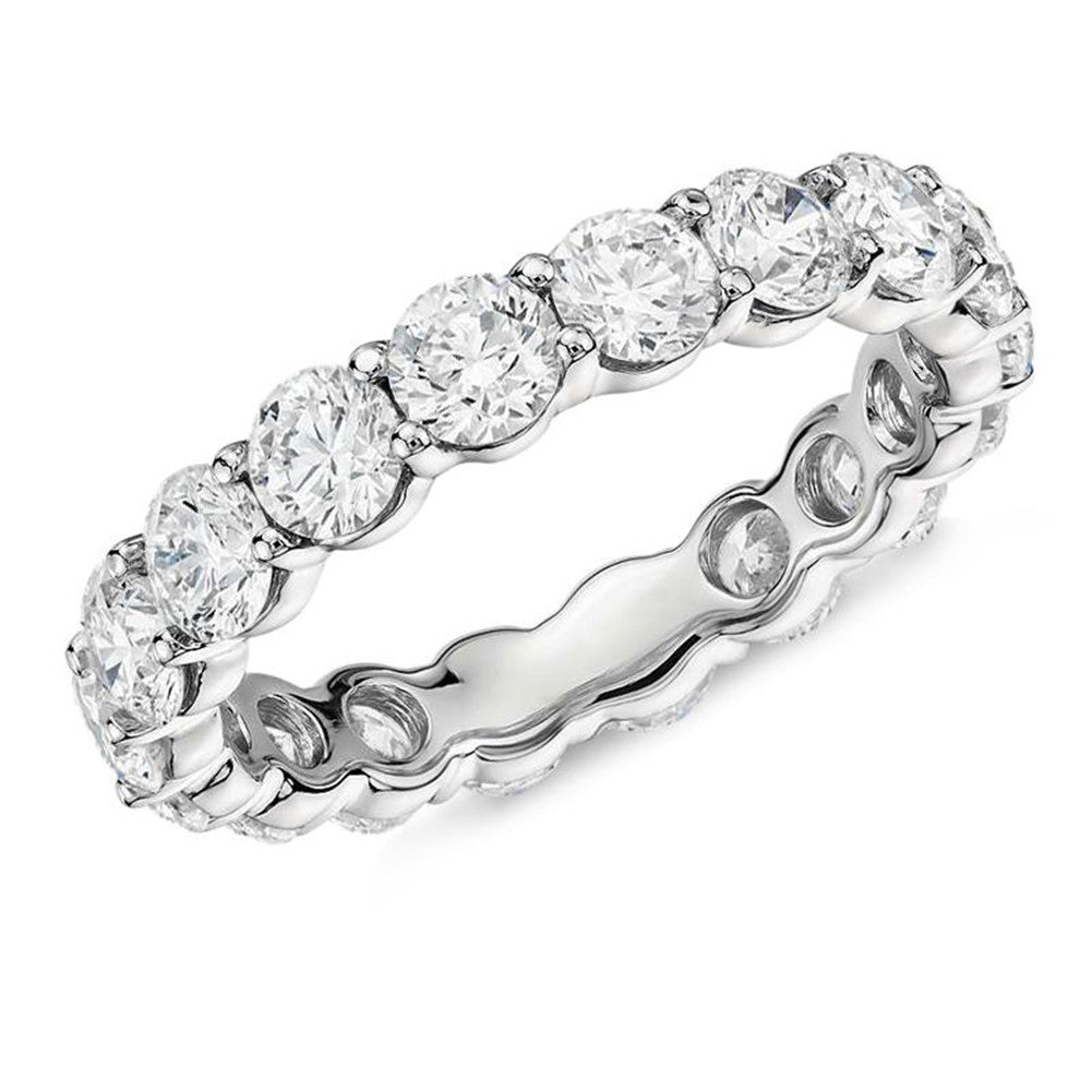 4mm Round Full Eternity Created Diamond Ring