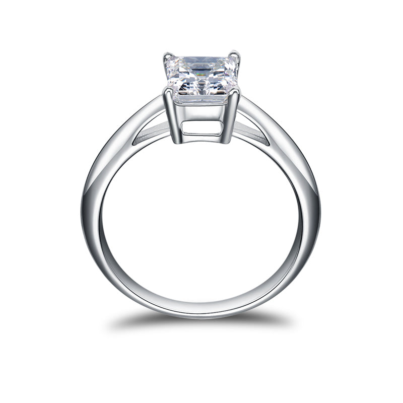 1.5ct Radiant Center Stone Created Diamond Solitaire Ring