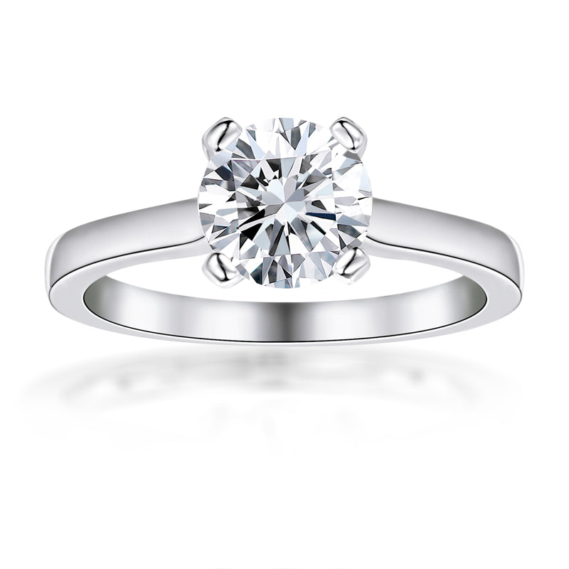 Round Cut Moissanite Diamond Ring