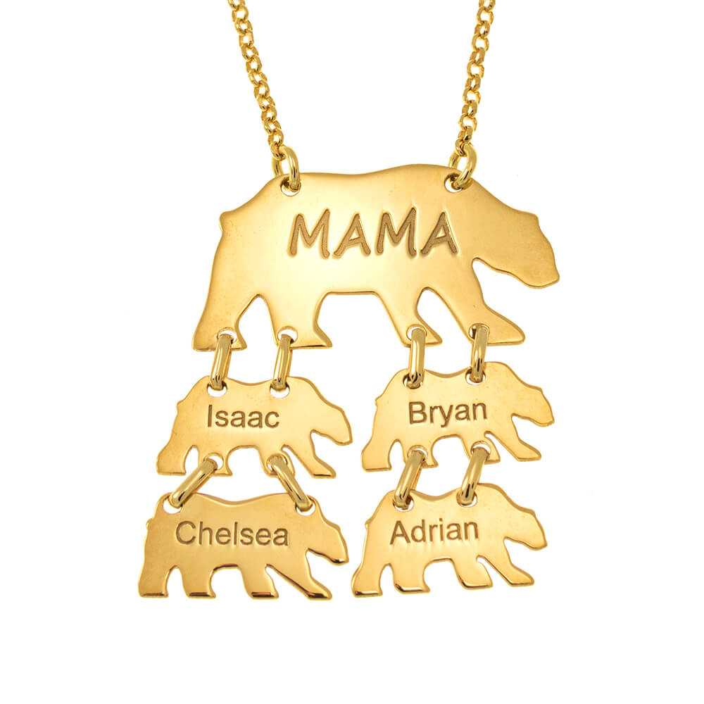 Vertical Mama Bear Necklace